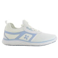 Baskets Femme pour personnel de santé Karla blanche et bleu