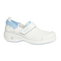 Chaussures blanche et bleu de travail Salma ultraconfortable