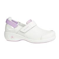 Chaussures de travail blanche et parme Salma ultraconfortable