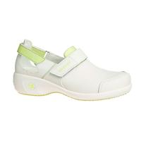 Chaussures de travail blanche et verte Salma ultraconfortable