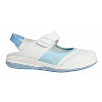 Sandale médicale blanche et bleu SRC ESD Oxypas Melissa