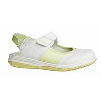 Sandale médicale blanche et verte Oxypas Melissa
