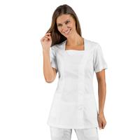Tunique médicale blanche manches courtes Isacco
