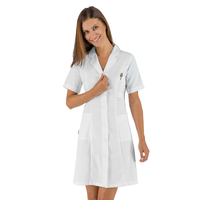 Blouse médicale blanche femme manches courtes Isacco
