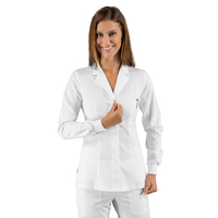 Tunique médicale blanche Polyester à poignets tricots Isacco