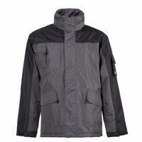 Parka de travail imperméable Oxford gris/noir North ways