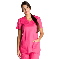 Blouse tunique médicale rose fuchsia stretch
