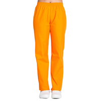 Pantalon médical orange coupe unisexe