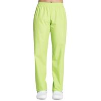 Pantalon médical vert pistache, coupe unisexe