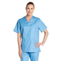 Tunique médicale bleu de France unisexe col en V