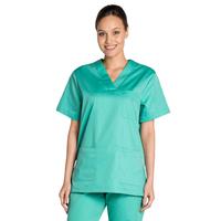 Tunique médicale vert Jade unisexe col en V