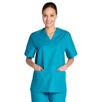 Tunique médicale bleu vert unisexe col en V