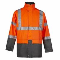 Veste de pluie haute visibilité orange fluo Bandit North Ways