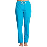 Pantalon médical bleu turquoise, coupe unisexe stretch