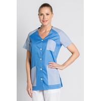Tunique de travail femme manches courtes bleue