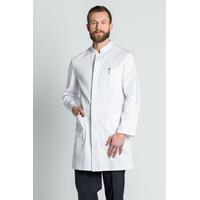 Blouse médicale homme manches longues coton blanc
