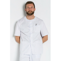 Blouse médicale blanche homme col rond