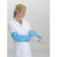 100 Manchettes de protection Bleu PE polyéthylène avec élastiques