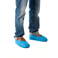 Sur-Chaussures Visiteurs renforcées CPE Polyéthylène Bleu - Boite de 100 unités