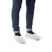Surchaussures polypropylène non tissé blanc sans couture semelle - Boite de 500
