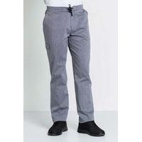 Pantalon homme taille élastique rayures bleu marine