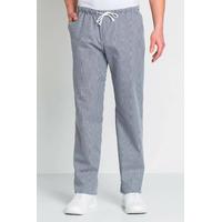 Pantalon de cuisine homme imprimé vichy bleu et blanc