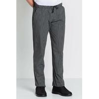 Pantalon de cuisine homme rayé noir et blanc