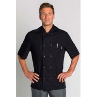 Veste de cuisine Coton noir manche courte homme