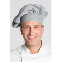 Toque chef cuisinier Unisexe Gris clair Coton