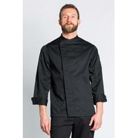 Veste de cuisine noire Couture Homme