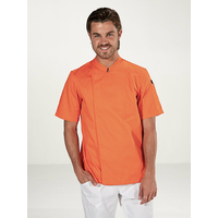 Veste de cuisine Orange Mixte manches courtes COOKIE