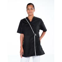 Tunique kimono esthéticienne à manches courtes AMBRE Noir
