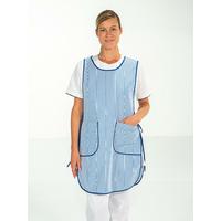 Chasuble agent entretien hospitalier rayé bleu MARION