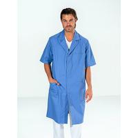 Blouse médicale bleue Homme manches courtes OSCAR