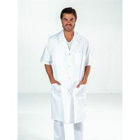 Blouse blanche 100% coton Homme manches courtes OSCAR