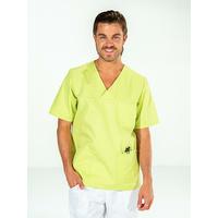 Casaque chirurgien dentiste homme manches courtes Vert pistache JULES