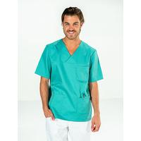 Casaque chirurgien manches courtes Vert aqua JULES