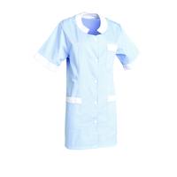 Tunique médecin manches courtes MARTHE Bleu ciel/blanc