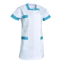 Tunique aide-soignante asymétrique BERNY blanc et bleu