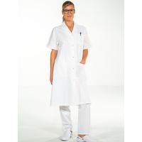 Blouse médicale 100% coton blanc manches courtes MADONA