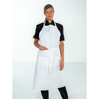 Tablier bavette de cuisine coton Blanc Mixte VALET