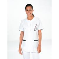 Tunique médicale blanche manches courtes HANNA