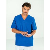 Casaque médicale Homme manches courtes Bleu JULES
