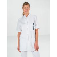 Tunique Femme médecin 100% coton blanc manches courtes DENISE