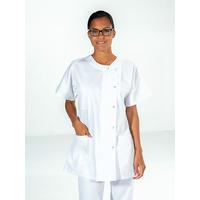 Tunique médicale infirmière blanc manches courtes NOEMIE