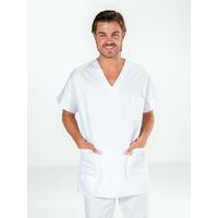Casaque infirmier manches courtes blanc FRANCOIS