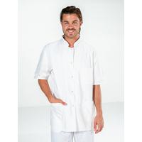 Tunique médicale blanche 100% coton manches courtes DENIS