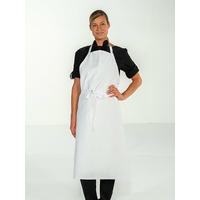 Tablier de cuisine blanc 100% coton sans poche VALET