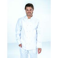 Veste de cuisine blanche manches longues 100% coton Mixte STEPHANE