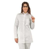 Tunique médicale blanche Coton Stretch manches longues Isacco
